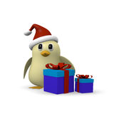 Bird with gift boxes Stock Photo