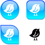 Bird glossy button. Royalty Free Stock Photo