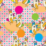 Bird Gossip Seamless Pattern Royalty Free Stock Images