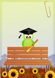 Bird graduate Royalty Free Stock Photo