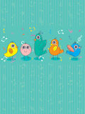 Bird Group_eps Stock Image