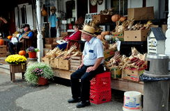 Bird-in-Hand, PA: Village Store and Mennonite Man Royalty Free Stock Photo