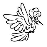 Bird Happiness Coloring Pages Stock Images
