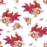 Bird of Happiness seamless pattern Royalty Free Stock Photos