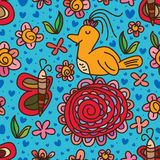 Bird happy relax seamless pattern Stock Images