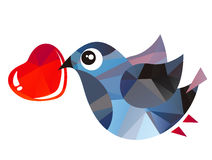 Bird and heart Royalty Free Stock Photography