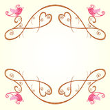 Bird and heart decoration Royalty Free Stock Photos