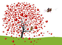 Bird and heart tree design Royalty Free Stock Photos