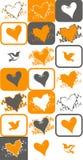 Bird and heart vector Stock Image