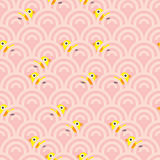 Bird hidden wave seamless pattern Stock Images