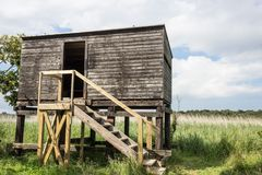 Bird Hide at Covehithe, Suffolk, UK Stock Photography