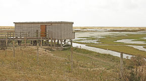 Bird Hide in the Marshes Stock Images