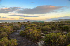 Bird hide at West Coast National Park - South Africa Stock Image