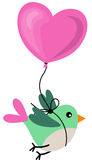 Bird Holding Love Heart Balloon Stock Images