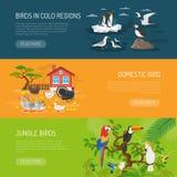 Bird Horizontal Banners Set Stock Photography
