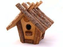 Bird house. Handmade bird house of wood Royalty Free Stock Image