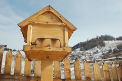 Bird house. In the mountains Stock Images