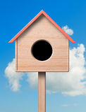 Bird house. Illustration of a bird house, clipping path royalty free stock image