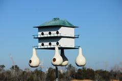 Bird house. A bird house awaiting its tenants on a bright day Royalty Free Stock Photos