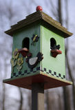 Bird House. Green Bird House Stock Photography