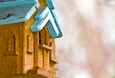 Bird house. Antique Bird house outside in the woods near Charlotte, NC Royalty Free Stock Photos