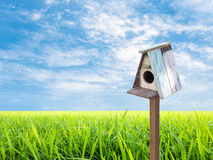 Bird House and blue sky Stock Photography