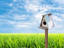 Bird House and blue sky Stock Photography