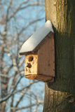 Bird house. Booth breeding on tree Royalty Free Stock Photography