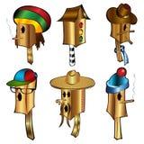 Bird house cartoon character Stock Image