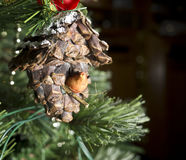Bird House Christmas Ornament Royalty Free Stock Image