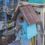 Bird house. Crafted bird house royalty free stock photography