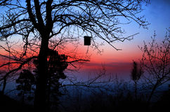 Bird house dawn abantos. Bird house south side abantos mount Stock Images