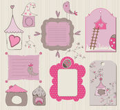 Bird House Design Elements Royalty Free Stock Images