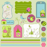 Bird House Design Elements Royalty Free Stock Photo