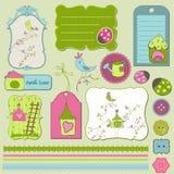 Bird House Design Elements Royalty Free Stock Photo