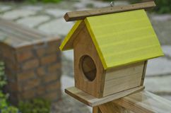 Bird House. In the garden stock image