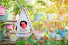 Bird house. In the garden royalty free stock image
