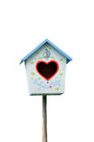 Bird house heart Royalty Free Stock Photos