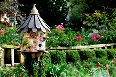 Free Bird House In Victorian Garden Royalty Free Stock Photography - 150333977