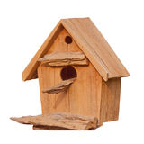 A bird house isolate on white Stock Photography