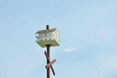 Bird house mansion stock photo