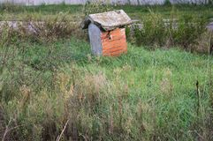 Bird house in the nature. Pesaro, Italy stock images