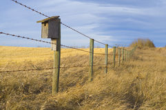 Bird House On The Prairie Stock Photos