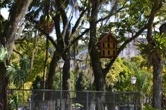 Bird house. In a public Park royalty free stock photography