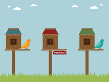 Bird house sale Royalty Free Stock Photo