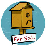 Bird House For Sale Royalty Free Stock Image