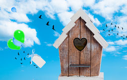 Bird House In The Sky Stock Photo