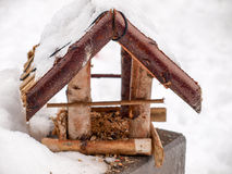 Bird House. In Winter with snow Royalty Free Stock Photo