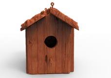 Bird house / wooden house. 3D render isolate bird house / wooden house vector illustration
