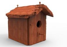 Bird house / wooden house. 3D render isolate bird house / wooden house stock illustration